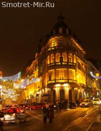 Ночная улица в Порту - Португалия