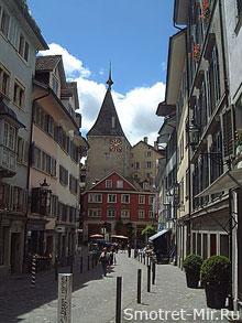 Цюрих - башня с часами