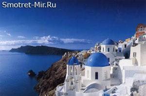 Город Фира в Греции