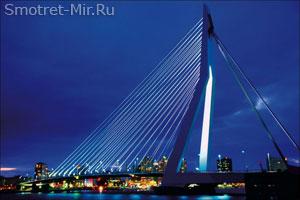 Вантовый мост Эразма в Роттердаме
