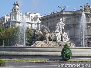 Фонтан в Мадриде