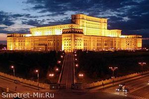Дворец Парламента ночью