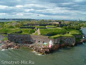 Система укреплений Суоменлинна (или Свеаборг) на островах Хельсинки