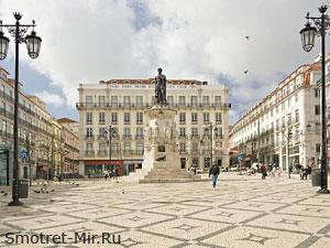 Район Лиссабона Chiado и Bairro Alto