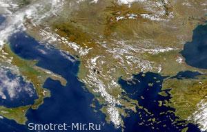 Балканский полуостров на карте