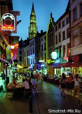 Бельгия ночью