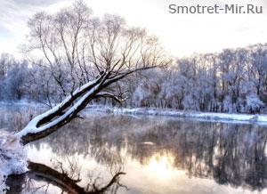 Река Амур зимой