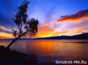 Фото заход солнца