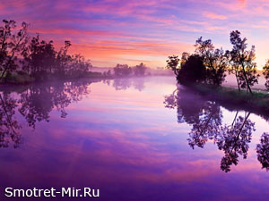 Фото рассвет на реке