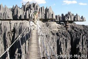 Висячий мост (Цинги де Бемараха, Мадагаскар)