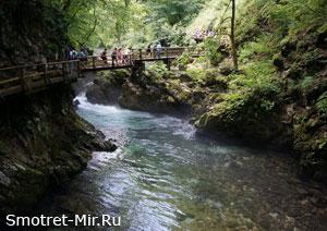 Каньоны в Европе - Винтгар (Словения)