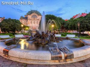 Город Кошице в Словакии