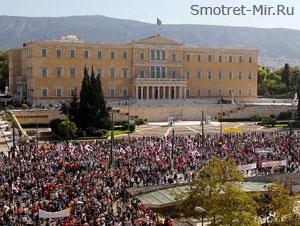 Здание парламента в Афинах