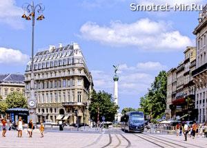 Город Бордо во Франции