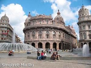 Город Генуя в Италии