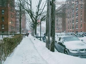 Зима в городе Нью-Йорк