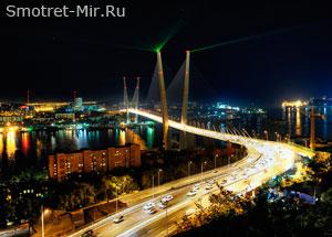 Город Владивосток ночью