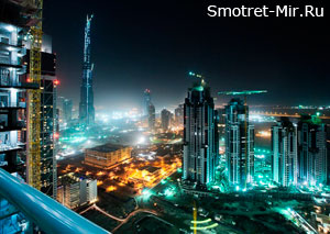 Ночное фото ОАЭ