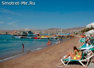 Пляж в городе Эйлат