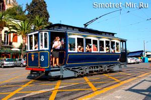 Синий трамвай, Барселона, Испания