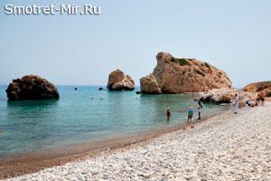 Пляж Афродиты на острове Кипр