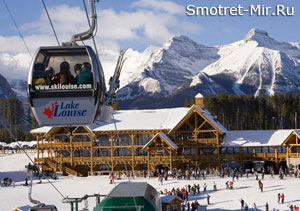 Ski resort Lake Louise in Canada