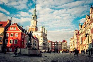Город Познань в Польше