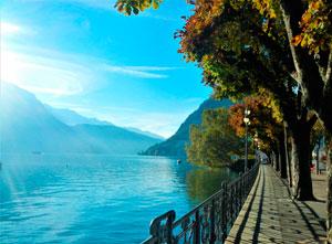 Озеро Лугано Швейцария